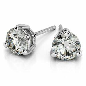 0-40-Cts-Ronde-Brillante-Couper-Diamants-Clous-Boucles-d-039-oreilles-En-750-18K-Or