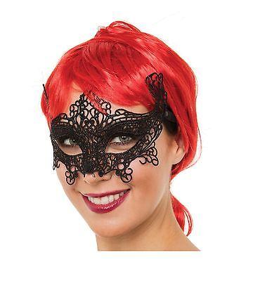 Damen Sexy Halloween Karneval Katze Spitze Halbschuhe Augen Maske #