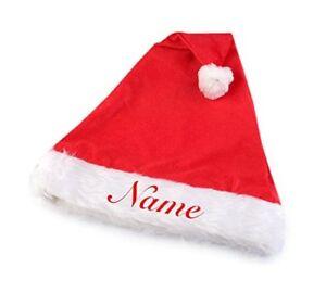 Gorro-de-Navidad-con-nombres-bordado-Papa-Noel-XMAS-Santa-Claus-frue-Ninos