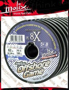 Schnüre & Vorfächer Romantisch Geflochtene Leine Pe Molix Super Offshore Game 8x Zopf Multifaser Mt 100 Angelsport