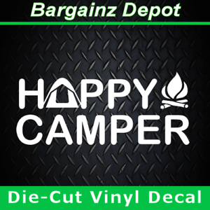 Image Is Loading Vinyl Decal HAPPY CAMPER Camping Tent Campfire