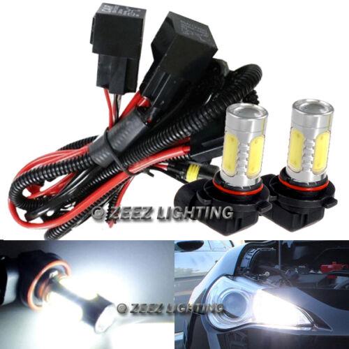 LED High Beam Daytime Running Light DRL Conversion Kit w// 6000K 9005 Hi-B Bulbs