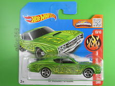 HOT WHEELS 2016 -  ´69 Mercury Cyclone grün  - HW Flames - 100 - neu in OVP