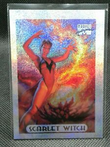1994-marvel-masterpieces-silver-holofoil-Scarlet-Witch-7-of-10