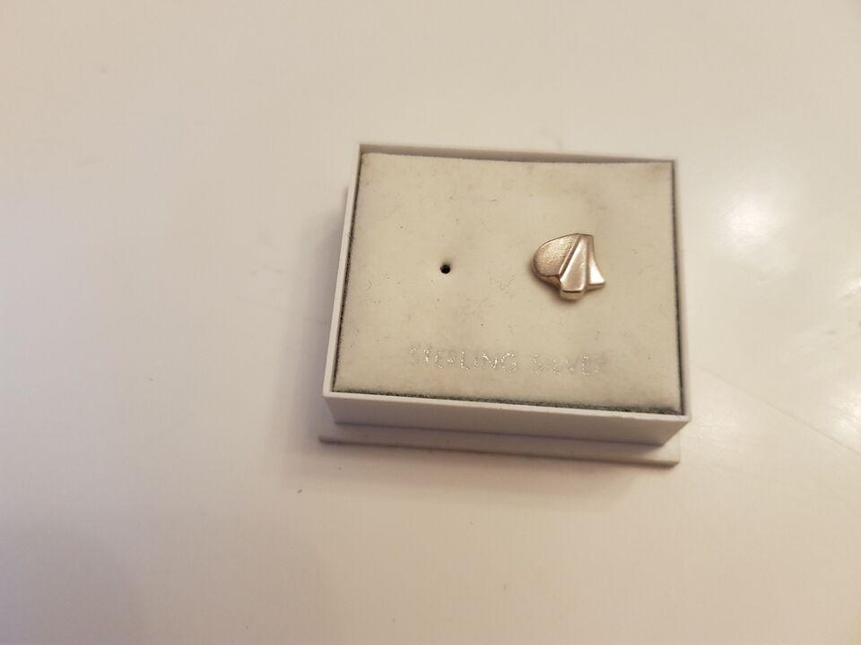 Øreringe, sølv, enkelt Sølv ørering
