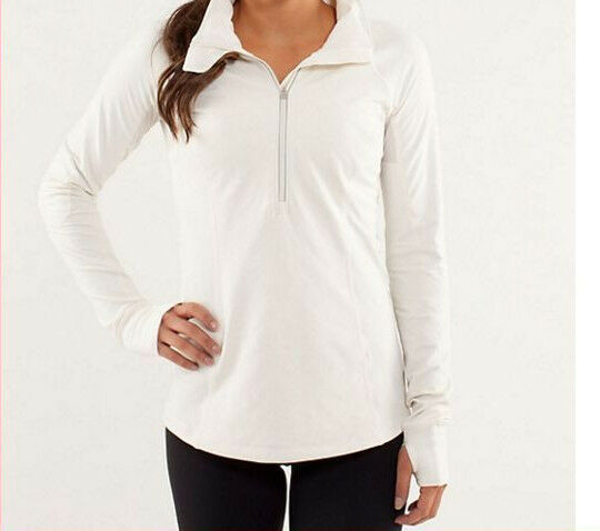 Lululemon Toasty Tech Polar Fleeve Pullover Top Jacket Run Womens Size 8 Quilted
