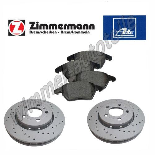 ATE Bremsbeläge vorne VW  256x13 mm  voll ZIMMERMANN Sportbremsscheiben