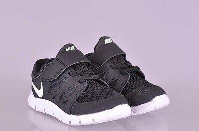 Nike Free RN Toddler Shoes Black//Metallic Silver//Anthracite 833992 001 TDV