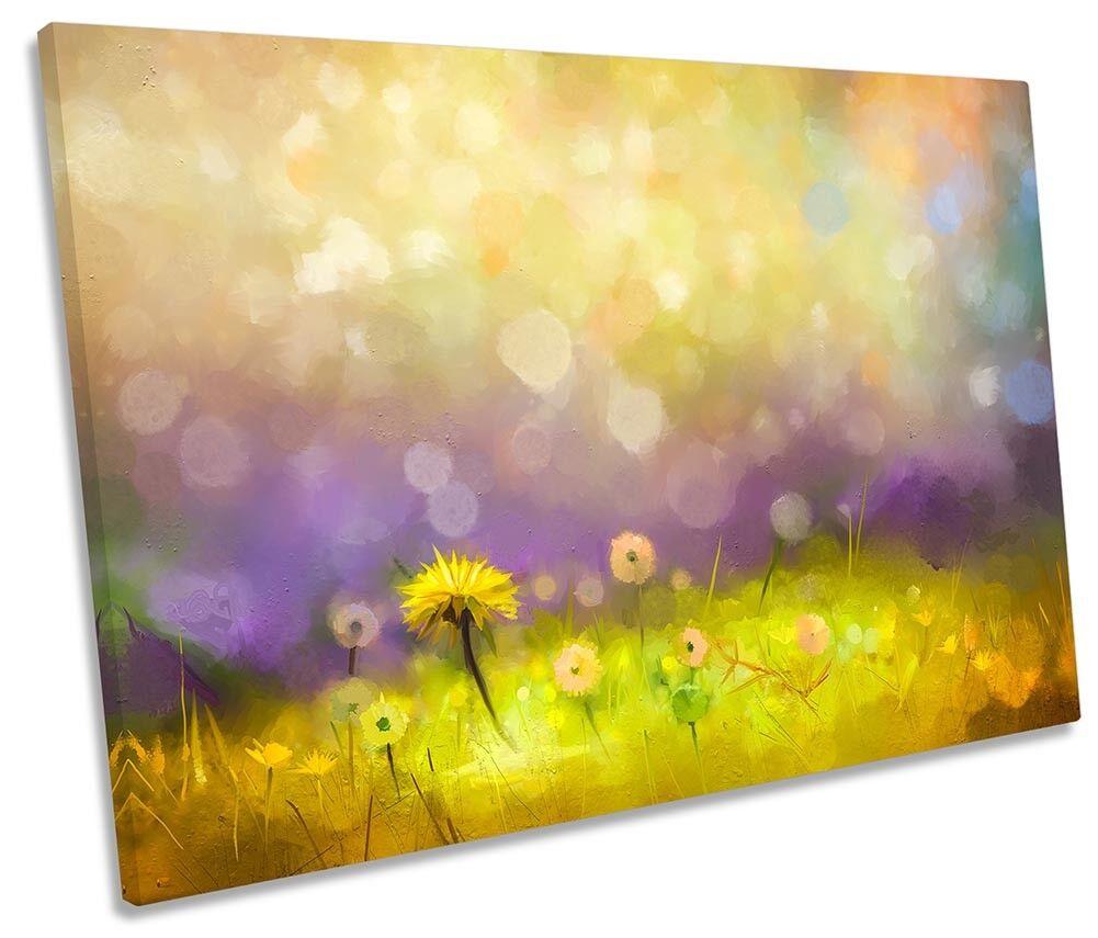 Majestic Floral Field Flowers SINGLE CANVAS WALL ARTWORK Print Art