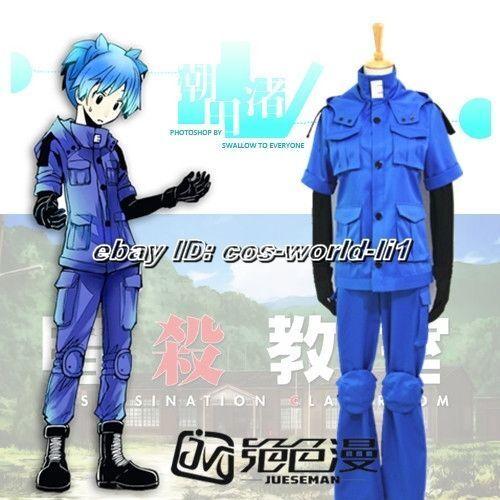 Assassination Classroom Cos Shiota Nagisa Blue Uniform Unisex Cosplay Costume