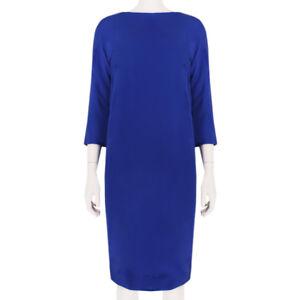 Alexander-Terekhov-Elegant-Royal-Blue-Silk-Shift-Dress-IT42-UK10