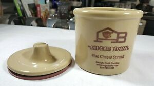 Angus Barn Raleigh NC Crock Blue Cheese Spread Jar Wire ...