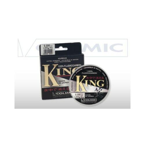COLMIC King 100/% Flourocarbon ligne 50 M toutes tailles