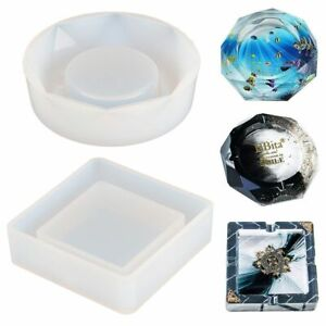 DIY Ashtray Epoxy Silicone Mold Resin Crystal Cement Jewelry Making Mould Craft
