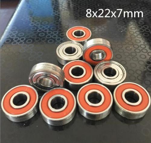 10pc 608 8x22x7mm Open Miniature Bearings high speed ball Hand Bearing Spinner *