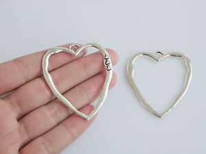 5-x-Tibetan-Silver-Large-Open-Heart-Charms-Pendants-Jewellery-Findings-52mm