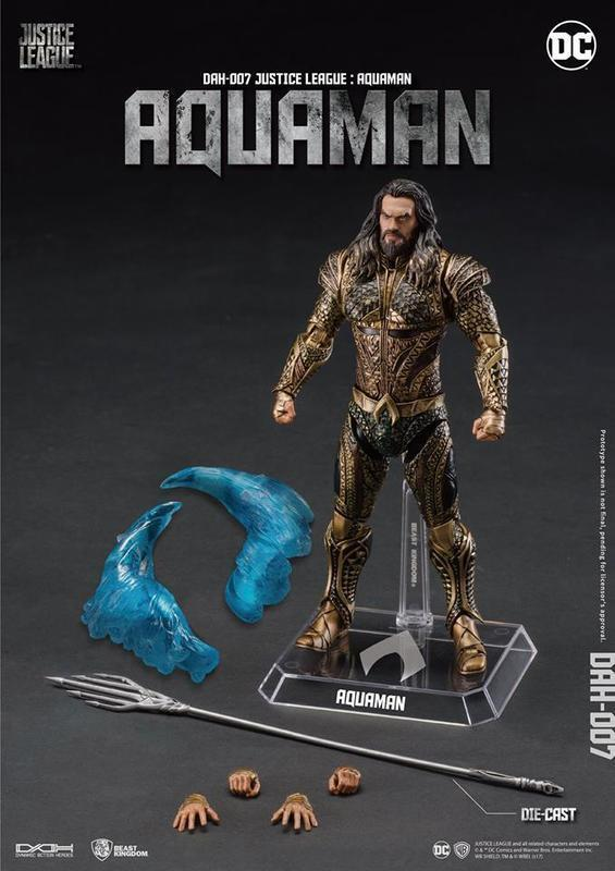 Beast KINGDOM Justice League Movie  dah-007 Dynamic 8 ction Aquahomme Action Figure  haute qualité authentique