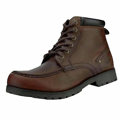 Red Tape Men's Keasden Leather Casual Boots Brown
