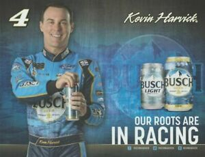 2019-KEVIN-HARVICK-BUSCH-BEERS-FORD-4-NASCAR-MONSTER-ENERGY-CUP-POSTCARD