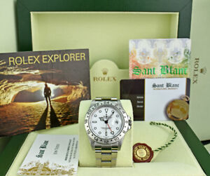 ROLEX-Rehaut-Mens-40mm-Stainless-Steel-Explorer-II-White-Dial-16570-SANT-BLANC