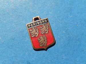 Vintage Enamel french Travel Shield Charms  PERIGORD LION  VITAM