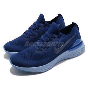 42d90c202b3be Nike Epic React Flyknit 2 II Blue Void Men Running Shoes Sneakers ...