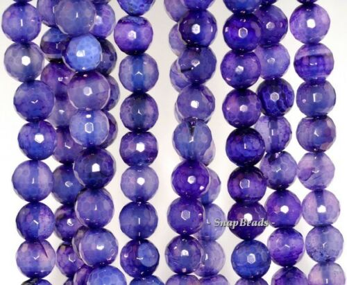 """10MM PURPLE AGATE GEMSTONE PURPLE FACETED ROUND 10MM 9MM LOOSE BEADS 15/"""""""