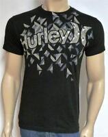 Hurley Fractured Crystal Tee Mens Regular Fit Black 100% Cotton T-shirt