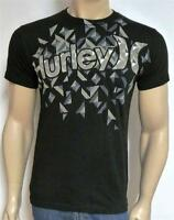 Hurley Fractured Crystal Tee Mens Regular Fit Black 100% Cotton T-shirt