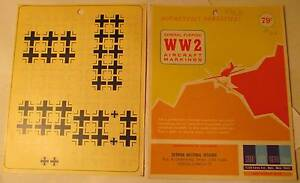 WW2-His-Air-Dec-1-48-Scale-German-Nat-Insignia-Fus-amp-Underwing-Small-Decals
