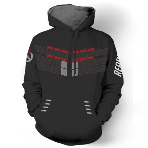 Game Overwatch Unsiex Hoodie Fancy Sweatshirt Genji Reaper Coat Cosplay Outwear