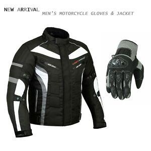 Motorcycle-Textile-Jacket-Touring-Waterproof-Coat-Motorbike-Racing-Summer-Gloves