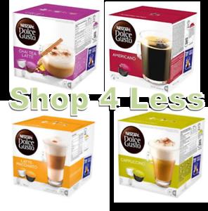 Dolce-Gusto-Pods-4-Flavours-Latte-Cappuccino-Americano-Chai-Tea-Latte