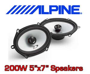 ALPINE-200W-2WAY-5-034-x7-034-5x7-SXE-CAR-DOOR-SHELF-SPEAKERS