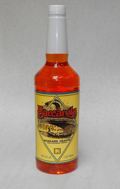 Gourmet Mandarin Orange Syrup 32oz. Barcarola Coffee Drink & Italian Soda Flavor