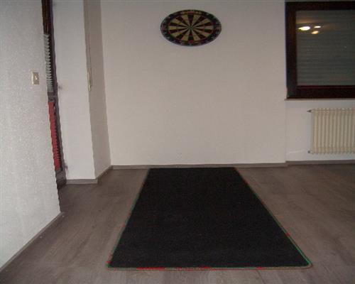 Dartteppich Darts Carpet Mat Oche hochw. Professional Quality Red Green