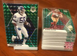 2020-Panini-Mosaic-Football-Parallels-You-Pick-Green-Silver-Pink-Orange