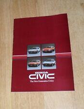 Honda Civic Brochure 1984 - 1.5 CRX Coupe - 3 Door 1.3 Deluxe & 1.5 S - Shuttle