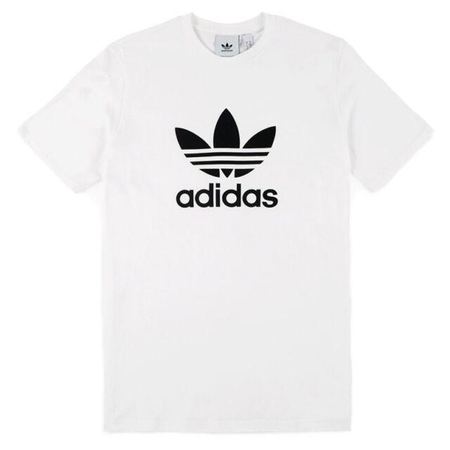 Maglia T-Shirt Trefoil Adidas CW0710 colore bianco logo nero Listino € 27,95 Abbigliamento e accessori Uomo: abbigliamento
