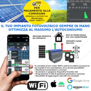 MONITORAGGIO REMOTO IMPIANTO FOTOVOLTAICO autoconsumo contatore relé WiFi solare