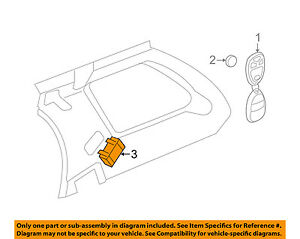 Details about GM OEM Keyless Entry-Receiver for Key Fob Remote 20863945