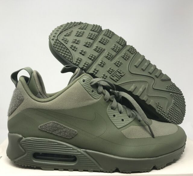 DS Nike Air Max 90 Sneakerboot Size 8.5 Patch Steel Green