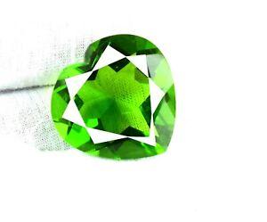 Brazilian Peridot Gemstone Heart Shape 59.80 Ct Certified V7311 Valentine's Gift