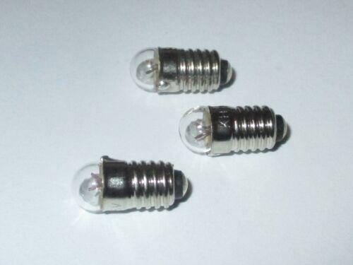 3 pièces NEUF Remplacement de Lampes e5.5-1,5 V 75 Ma Märklin 600190