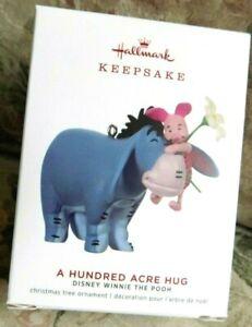 Hallmark 2019 A Hundred Acre Hug Disney Eeyore Piglet Winnie the Pooh Ornament
