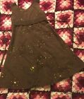 Girls Party Dress Bonnie Jean Brown Size 5 Sequins Bling Event Childs
