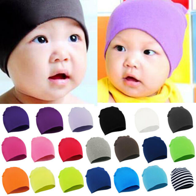 Baby Girl Boy Knit Hat Toddler Infant Kids Children Soft Cute Beanies Cap Solid