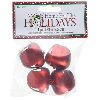 1.5 Inch 36mm Matte Gold Giant Large Jingle Bells 4 Pieces