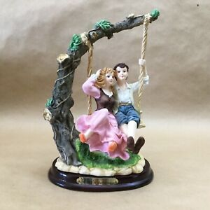 Vintage-Rubg-039-s-Collection-Detailed-Couple-Swinging-Tree-10-034-Tall