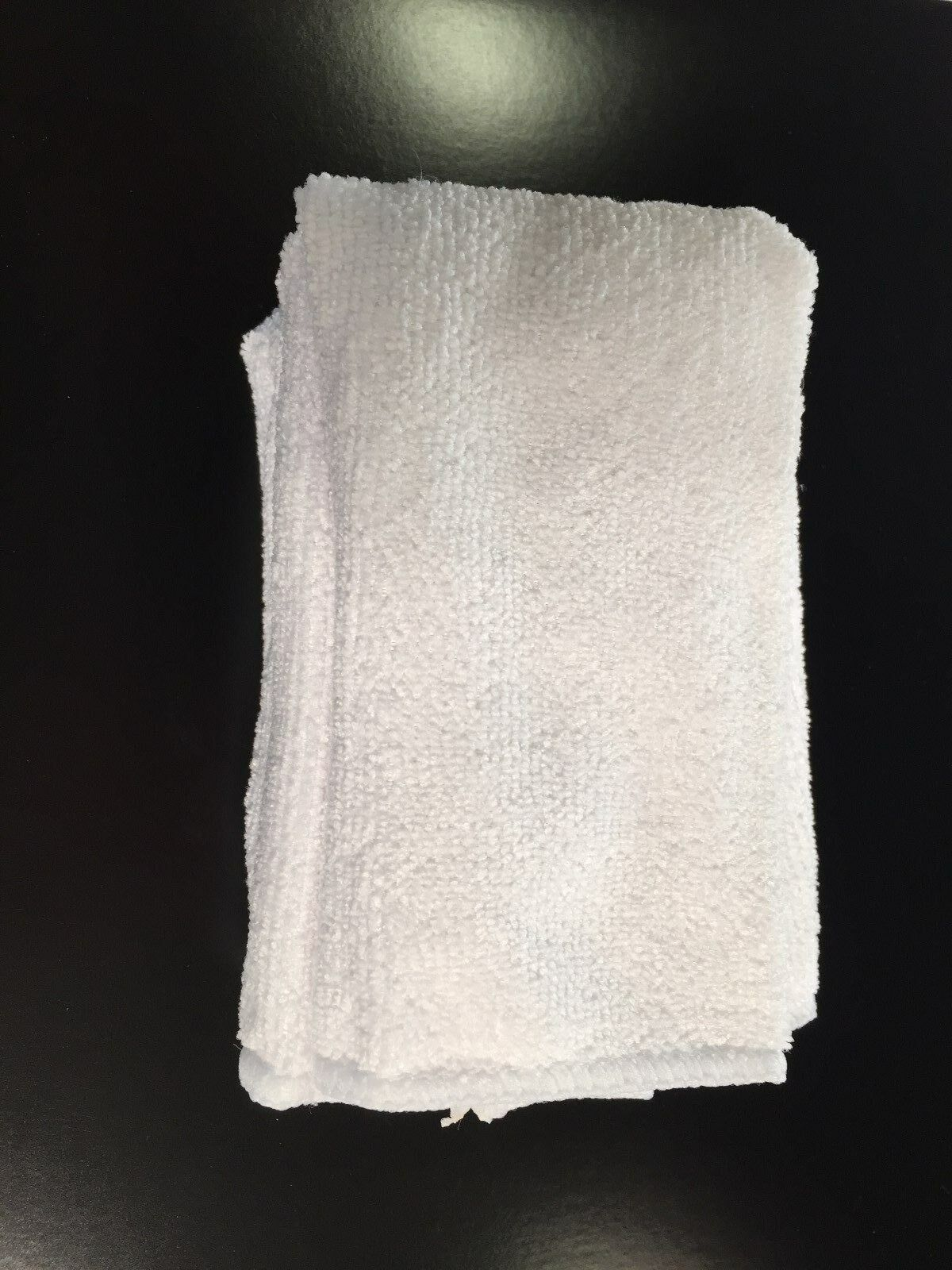200 Microfiber White 12 x12  Cleaning Detailing Cloths Towel Auto Car